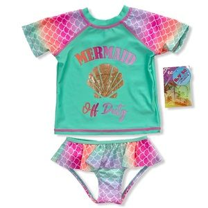 Freestyle Swimsuit 2 pc Metallic Mermaid Off Duty